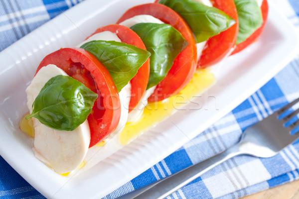 салат Капрезе фото выстрел красный Салат еды Сток-фото © jirkaejc