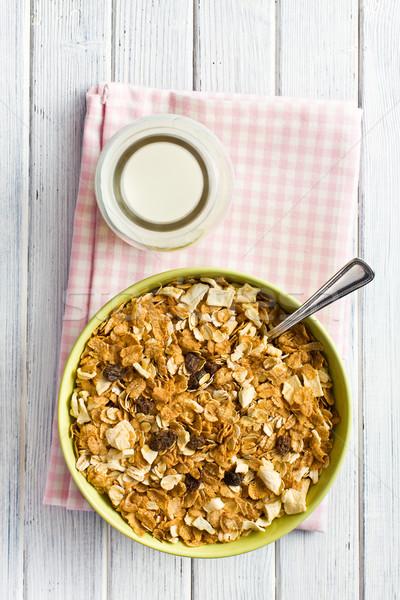 crunchy muesli in bowl Stock photo © jirkaejc