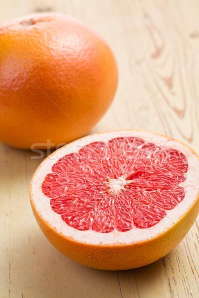 Foto stock: Rojo · pomelo · mesa · de · cocina · color · piel