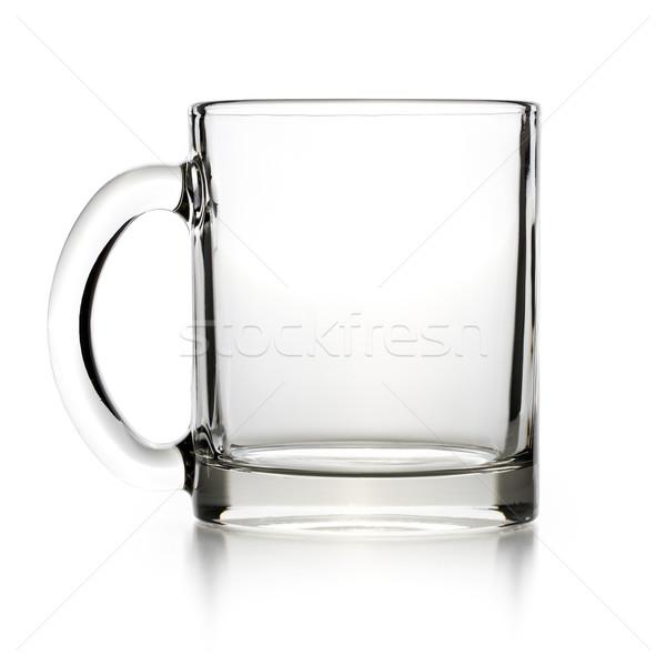 Boş cam çay fincanı beyaz mutfak çay Stok fotoğraf © jirkaejc