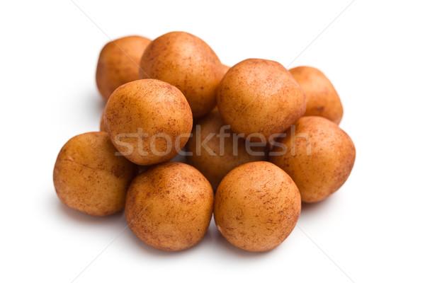 Marcipán golyók fehér csoport labda desszert Stock fotó © jirkaejc