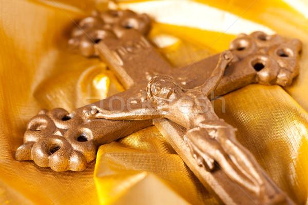 cross on gold background Stock photo © jirkaejc