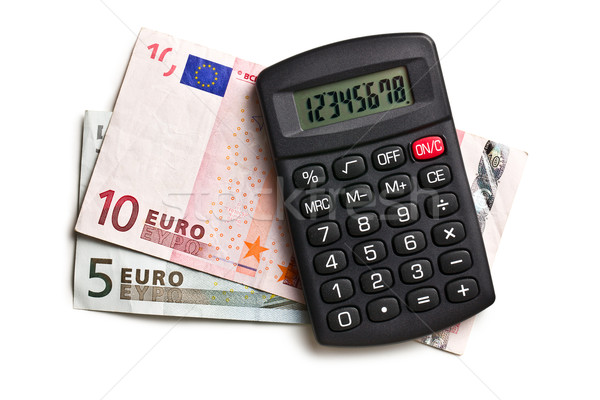 calculator and euro currency Stock photo © jirkaejc