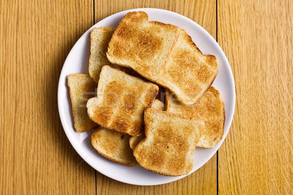 白 焼いた パン プレート グループ ディナー ストックフォト © jirkaejc