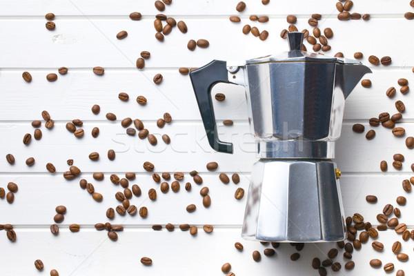 кофеварка кофе Top мнение белый Сток-фото © jirkaejc