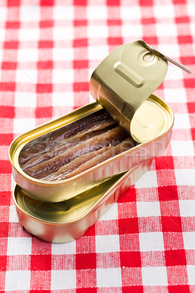 Tin può pesce sfondo olio vicino Foto d'archivio © jirkaejc