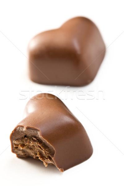 bitten chocolate heart Stock photo © jirkaejc