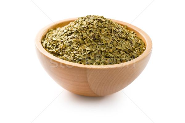 Aszalt levelek társ tea fehér zöld Stock fotó © jirkaejc