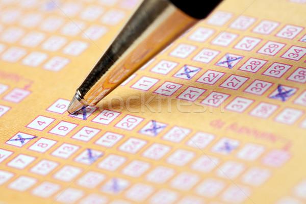 Loterij foto shot macht droom nummers Stockfoto © jirkaejc
