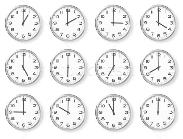 Stock photo: set of wall clocks
