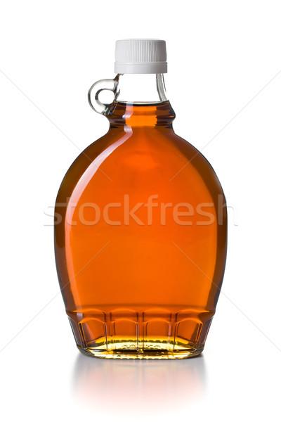 Acero sciroppo vetro bottiglia bianco dessert Foto d'archivio © jirkaejc