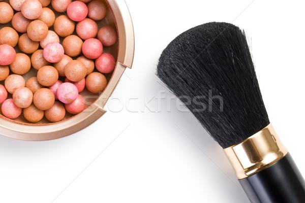 bronzing pearls and makeup brush Stock photo © jirkaejc
