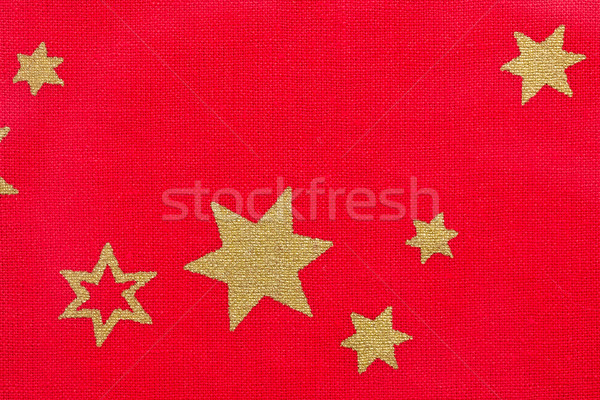 stars on red fabric Stock photo © jirkaejc