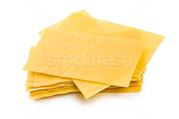 Lasagne sfondo bianco foglio tela italiana Foto d'archivio © jirkaejc