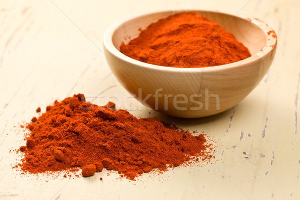 paprika powder in wooden bowl Stock photo © jirkaejc