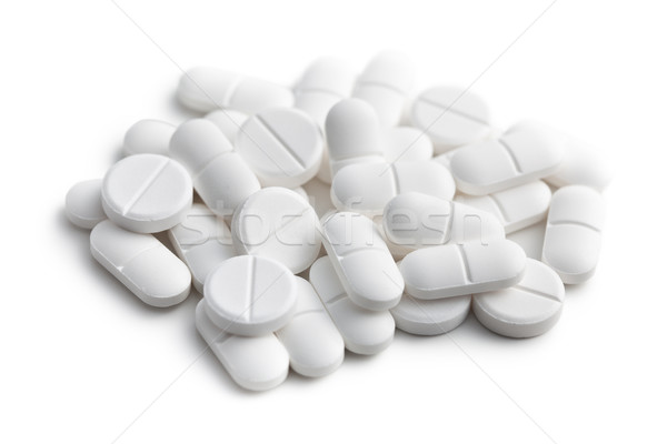 Witte pillen medische helpen laboratorium pijn Stockfoto © jirkaejc