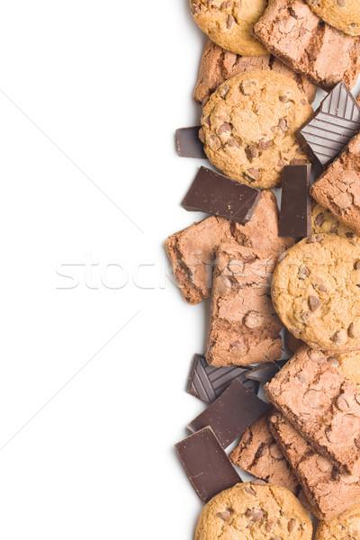 çikolata kurabiye şeker yeme beyaz model Stok fotoğraf © jirkaejc