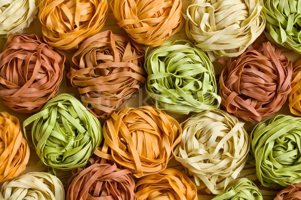 Kleurrijk pasta tagliatelle foto shot achtergrond Stockfoto © jirkaejc