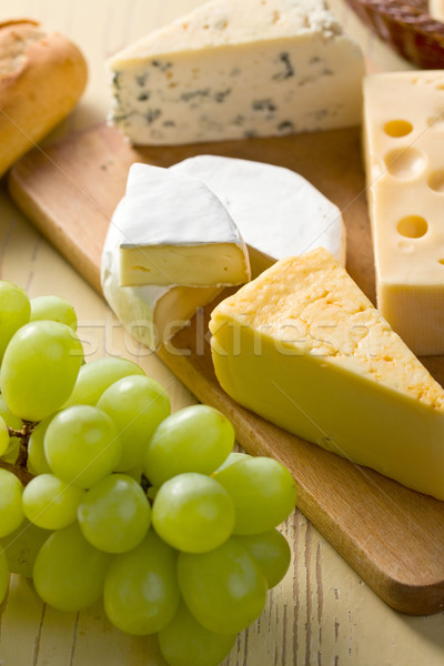 Stock photo: still life with cheeses