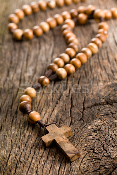 Wooden rosary beads Stock photo © jirkaejc