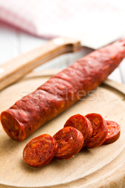 Lezzetli chorizo sosis gıda et Stok fotoğraf © jirkaejc
