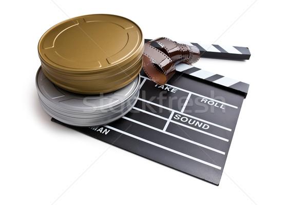 Tábla film mozi fehér iskolatábla szalag Stock fotó © jirkaejc