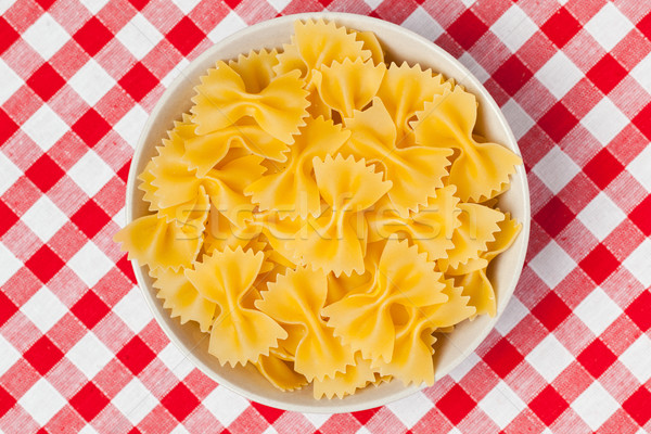 farfalle pasta in bowl Stock photo © jirkaejc