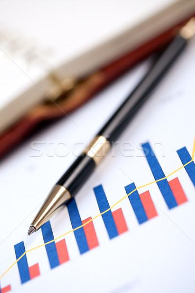 financial graph and pen Stock photo © jirkaejc