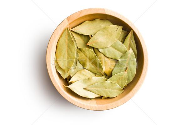 bay leaves in wooden bowl Stock photo © jirkaejc