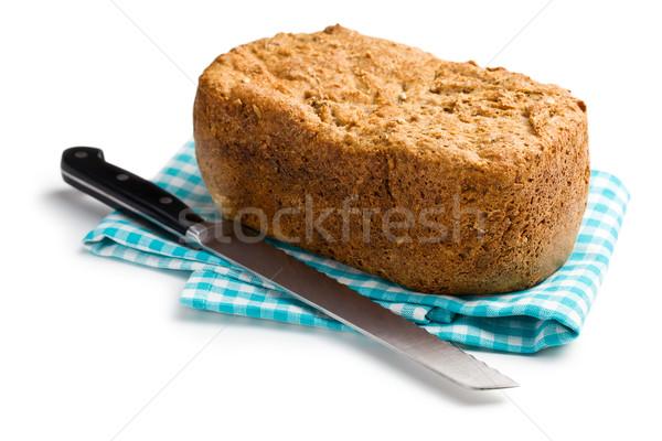自家製 全粒粉パン 白 背景 パン 小麦 ストックフォト © jirkaejc