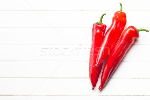 Rood peper keukentafel voedsel natuur keuken Stockfoto © jirkaejc