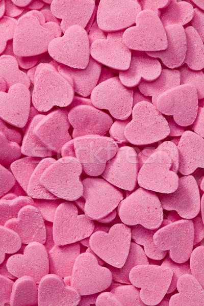 Rosa corazones foto tiro fondo rojo Foto stock © jirkaejc