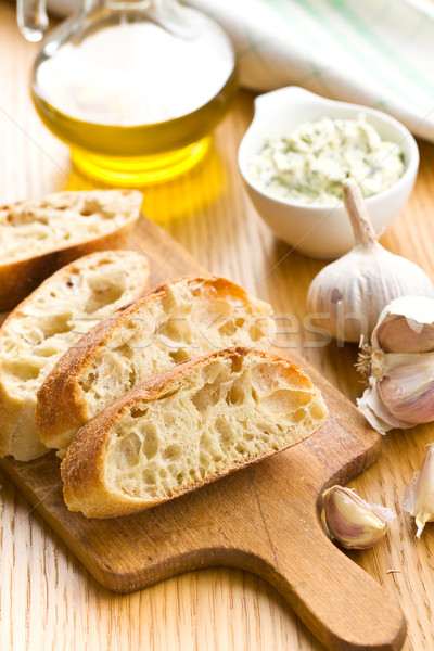 Stockfoto: Brood · keukentafel · voedsel · ontbijt · eten