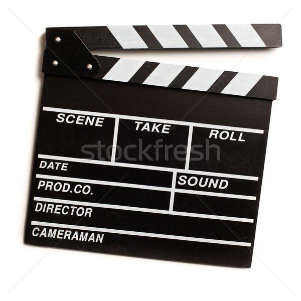 clapper board on white background Stock photo © jirkaejc