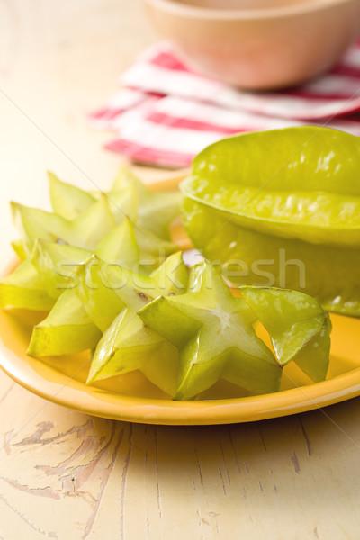 Obst Küchentisch Essen Sterne Dessert Saatgut Stock foto © jirkaejc