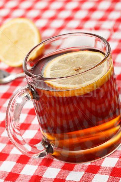 Кубок чай фото выстрел воды фрукты Сток-фото © jirkaejc