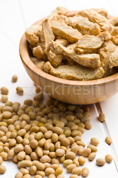 soy meat and soybeans Stock photo © jirkaejc