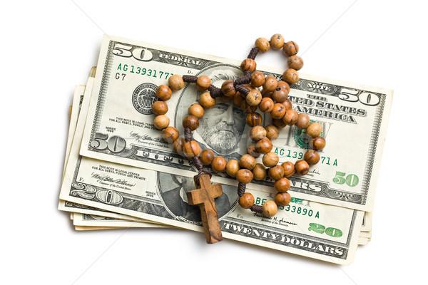 Rozenkrans amerikaanse dollar witte financieren bidden Stockfoto © jirkaejc