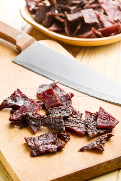 tasty beef jerky Stock photo © jirkaejc