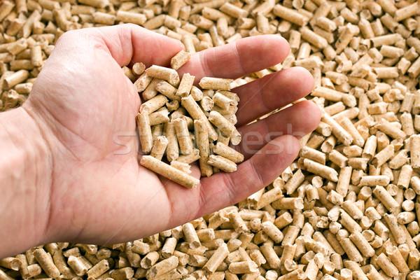 wooden pellet .ecological heating Stock photo © jirkaejc