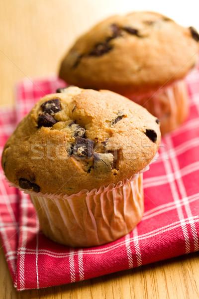 Smakelijk muffin chocolade keuken snoep koken Stockfoto © jirkaejc