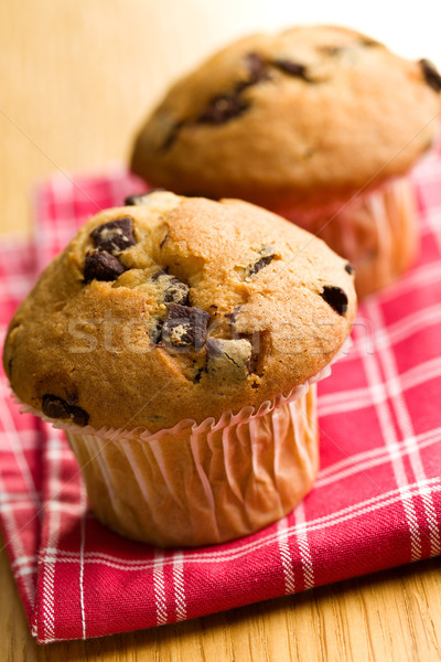 tasty muffin with chocolate Stock photo © jirkaejc