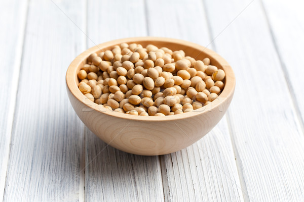 soy beans in wooden bowl Stock photo © jirkaejc