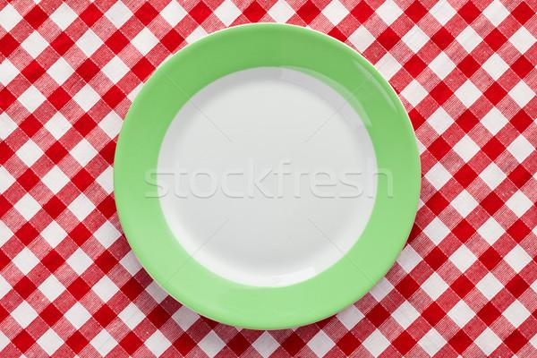 Verde prato toalha de mesa festa restaurante Foto stock © jirkaejc