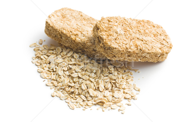 wholemeal crackers with oatmeal Stock photo © jirkaejc