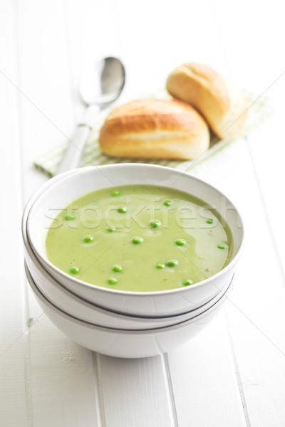 スープ ボウル 台所用テーブル 食品 健康 緑 ストックフォト © jirkaejc