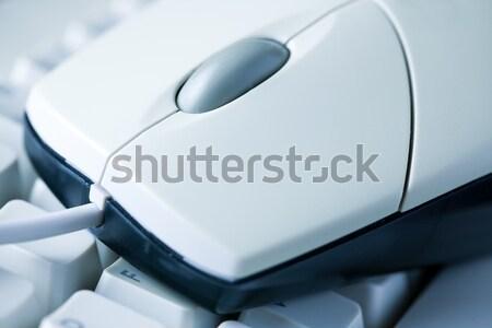 コンピューターのマウス キーボード 写真 ショット オフィス 手 ストックフォト © jirkaejc