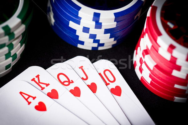 playing cards and poker chips Stock photo © jirkaejc