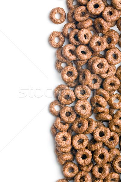 Czekolady zbóż pierścienie biały górskich kukurydza Zdjęcia stock © jirkaejc