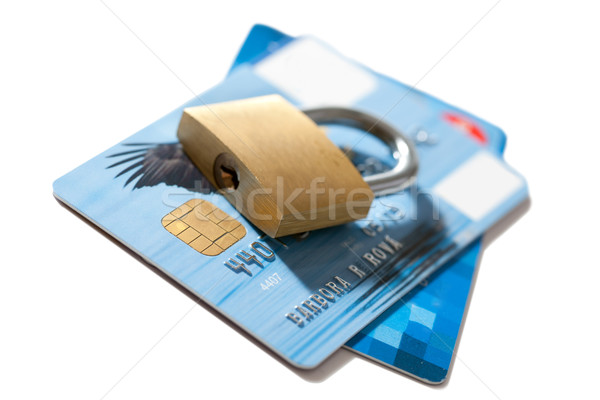 secure of credit card Stock photo © jirkaejc